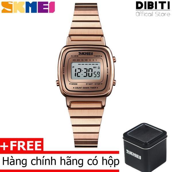 Đồng Hồ Nữ mặt số điện tử Skmei DO53 Dual time Digital Watch
