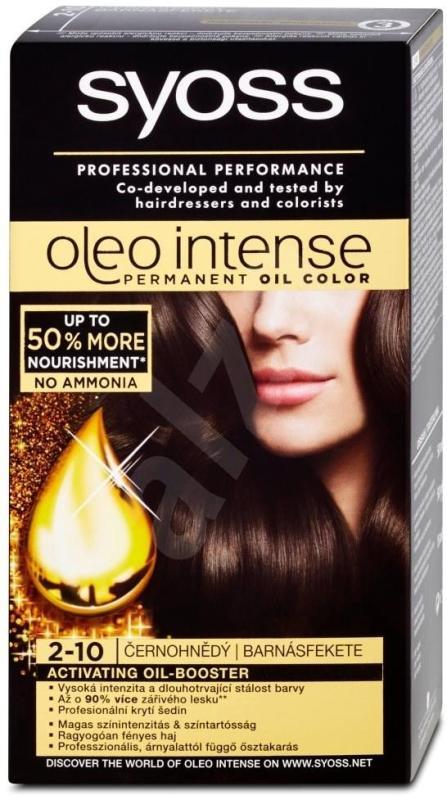 Thuốc nhuộm tóc ( nâu đen) nhập khẩu SYOSS Oleo Intense 2-10 Black-brown 50ml (nâu đen) cao cấp