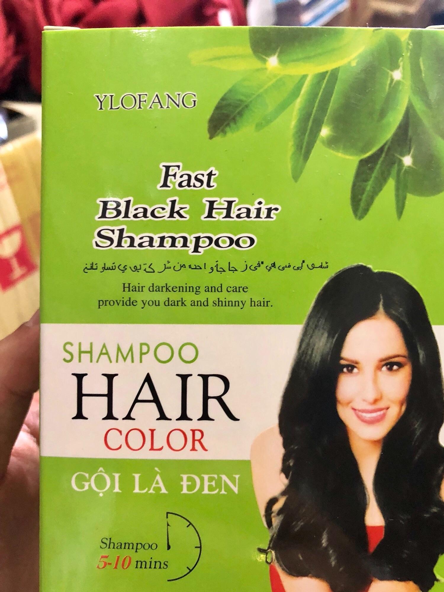 Gội đen tóc Oliu ( 1 hộp 10 gói ) chính hãng