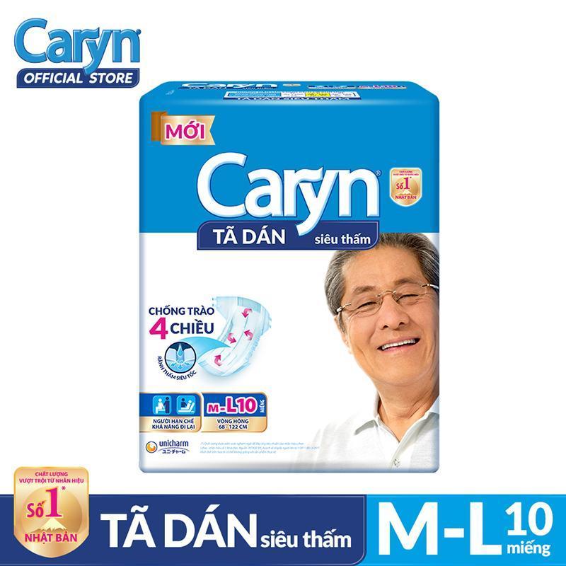 Tã dán Caryn siêu thấm size ML 10 miếng tốt nhất