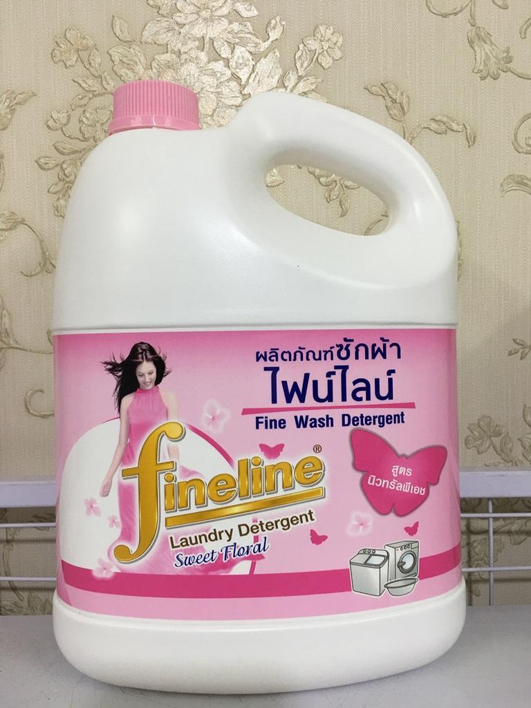 Nước giặt xả Fineline 3000ml Thái Lan - Màu hồng