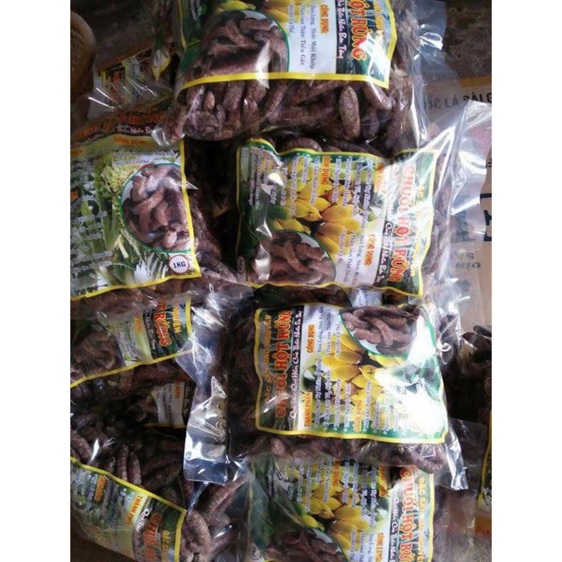 Chuối hột rừng 1kg nguyên quả trị tiểu đường, sỏi thận, đau dạ dày, tiêu độc