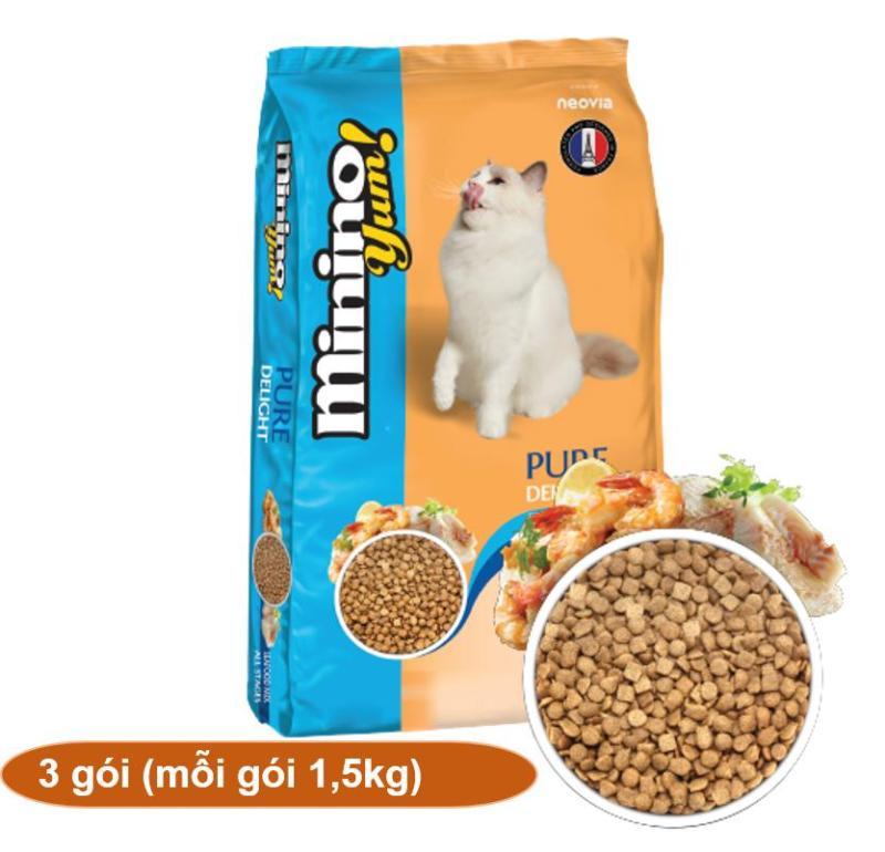 (Combo 3 Gói mỗi gói 1,5kg) MININO YUM (BLISK mới) -Thức ăn viên cao cấp cho mèo mọi lứa tuổi (HoaMy A 208b3).