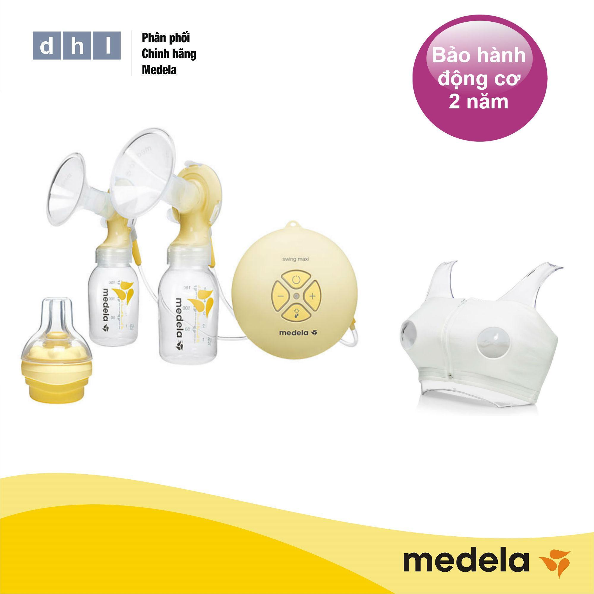 Offer Khuyến Mãi Máy Hút Sữa điện đôi Medela Swing Maxi - Tặng áo Hút Sữa Rảnh Tay DHL Và 1 Núm Calma - Hàng Phân Phối Chính Thức Medela Thụy Sĩ