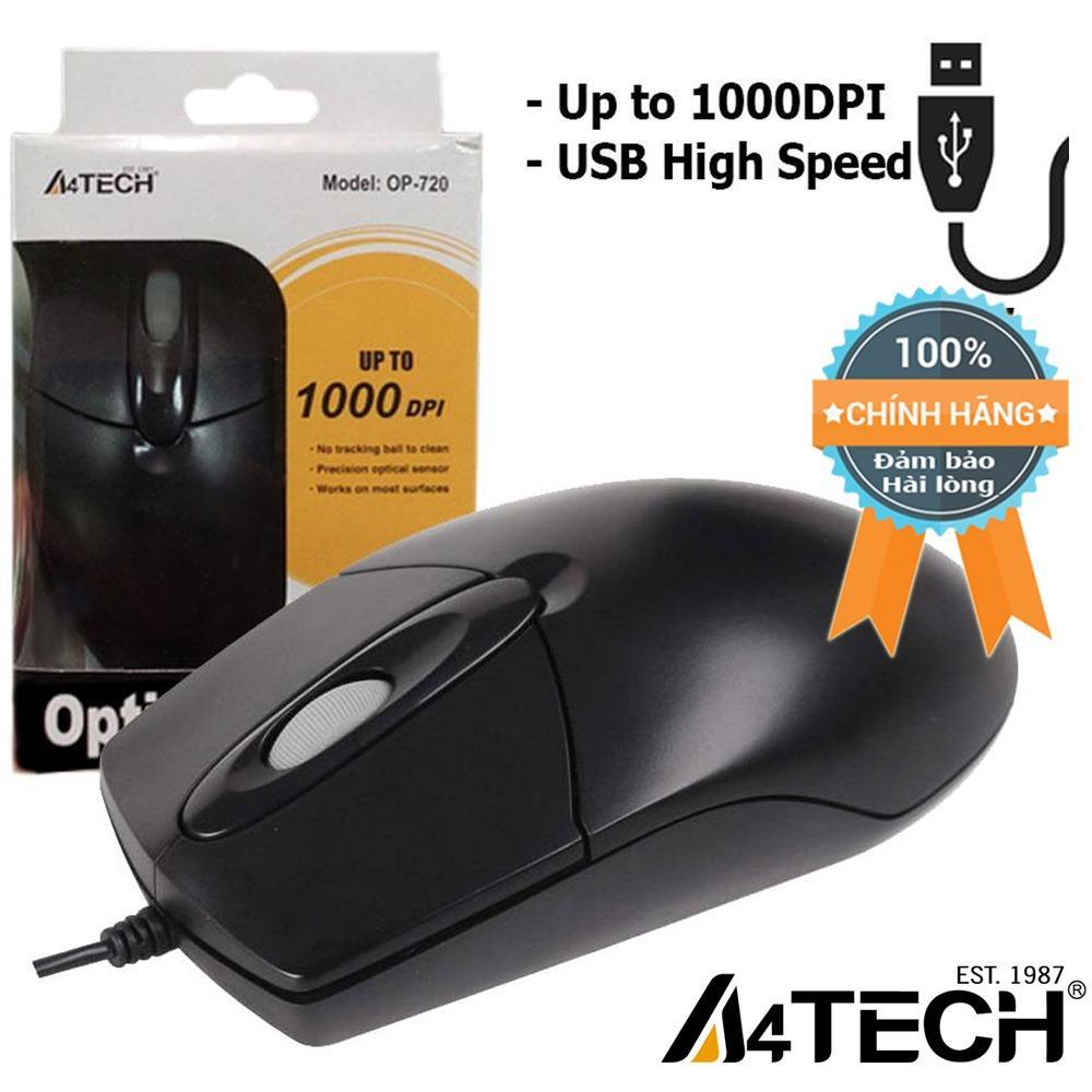 Hình ảnh Chuột máy vi tính có dây A4Tech OP720 1000dpi USB - Hãng Phân phối chính thức