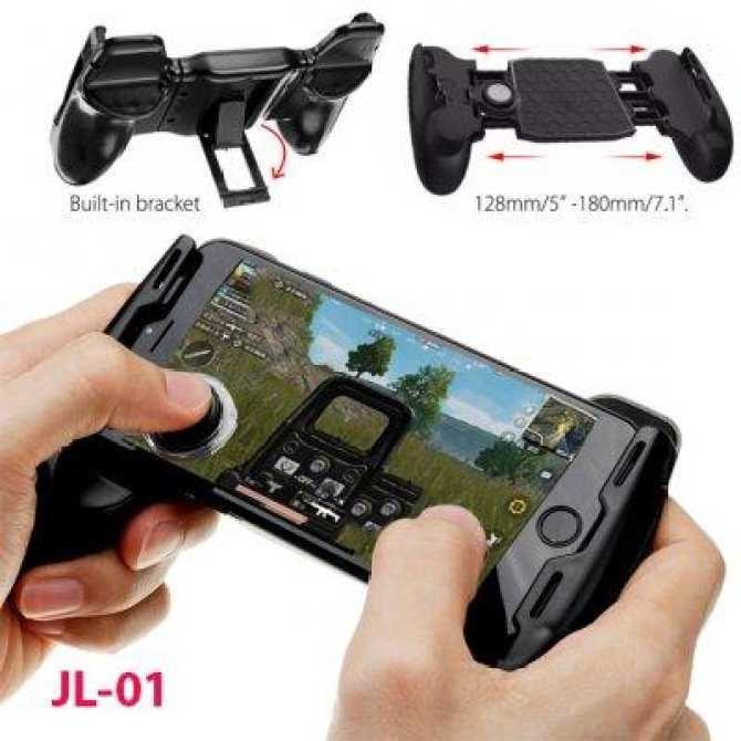 COMBO ( Giá hủy diệt ) Tay cầm chơi game Liên Quân,PUPG kiêm giá đỡ điện thoại có nút bấm - Gamepad ( Tặng 2 Nút joystick)