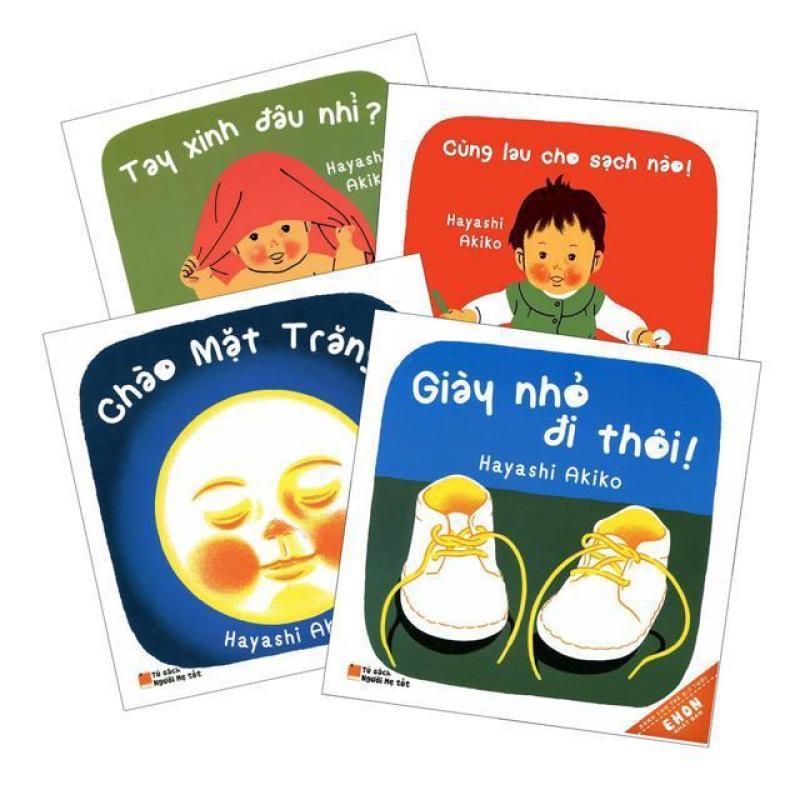 Sách - Combo Ehon Tay Xinh- Giày Nhỏ- Chào Mặt Trăng- Cùng Lau Cho Sạch