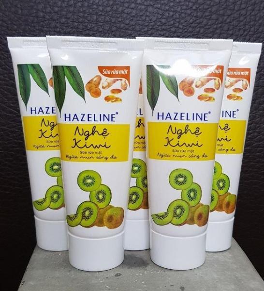 Combo 10 tuýp kem rửa mặt sáng da hazeline kiwi nghệ 15g
