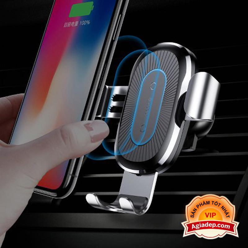 Hình ảnh Đế sạc không dây (Wireless) oto, xe hơi Baseus (Chuẩn QI) iPhone 8/X/Samsung của Agiadep (Bán chạy)
