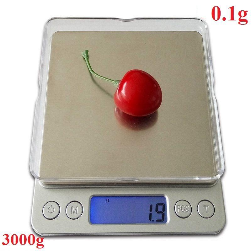 Cân tiểu ly điện tử 3000g - 0.1g - Cân tiểu li điện tử 3kg có độ chính xác cao