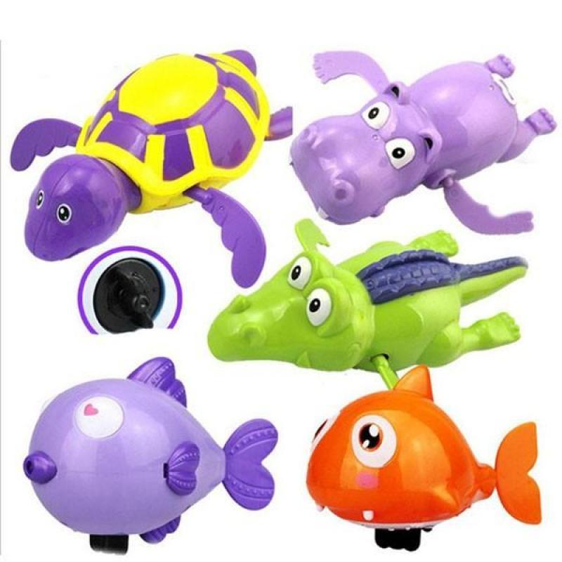 Bộ 6 con thú đồ chơi bồn tắm thú biết bơi cho bé