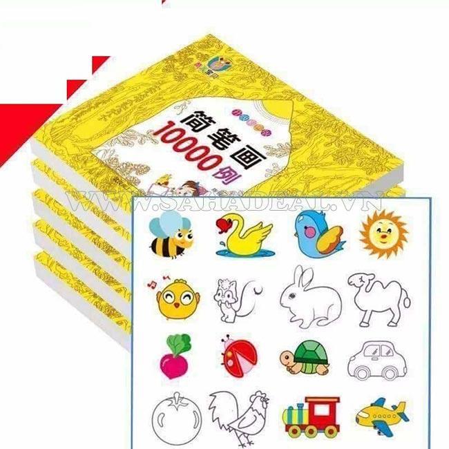 Mua Sách tô màu 10000 hình cho bé