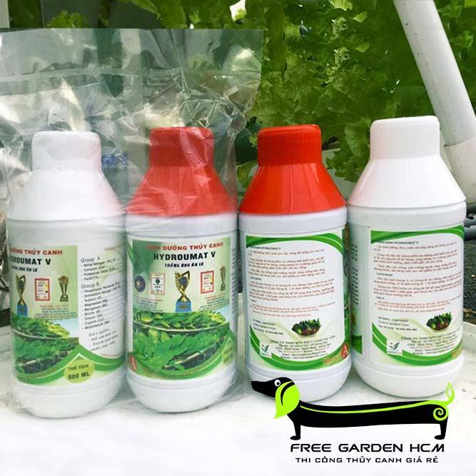 COMBO 2 CẶP Dung Dịch Thủy Canh Hydroumat V Rau Ăn Lá - dinh dưỡng thủy canh