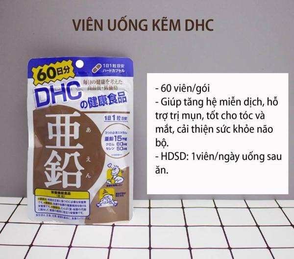 [CHÍNH HÃNG] Viên Uống Bổ Sung Kẽm DHC Nhật Bản Hỗ Trợ Trị Mụn - 60 ngày - TITIAN giá rẻ