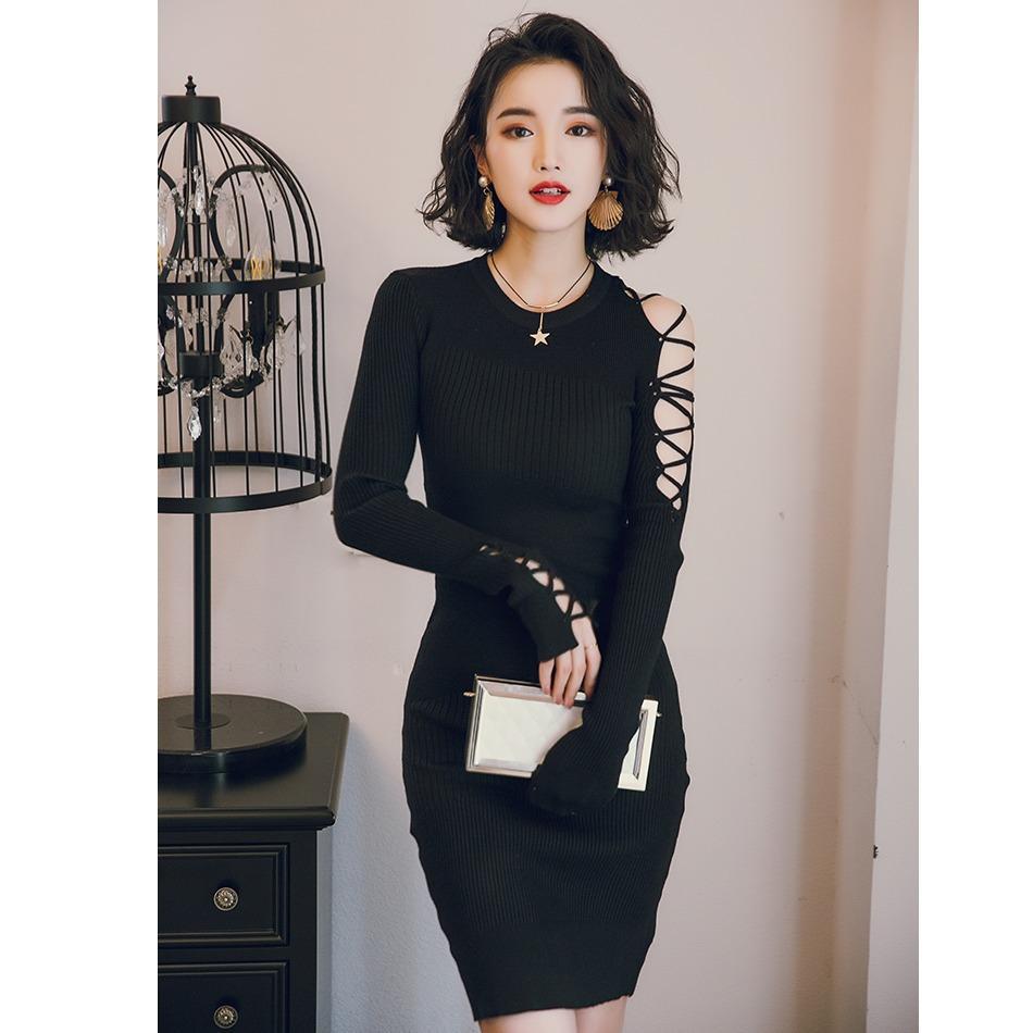 Bán Đầm Nữ Om Body Tay Dai Đan Mắt Cao S*xy Love Dress Quý Co Hoan Hảo Trực Tuyến Trong Việt Nam