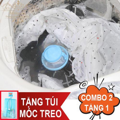 Hình ảnh Combo 2 phao lọc rác bẩn máy giặt. Tặng túi lưới có móc treo tiện dụng