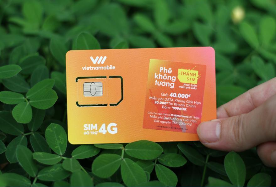 Hình ảnh thanh sim vietnammobile 4G 10 số mới nhất