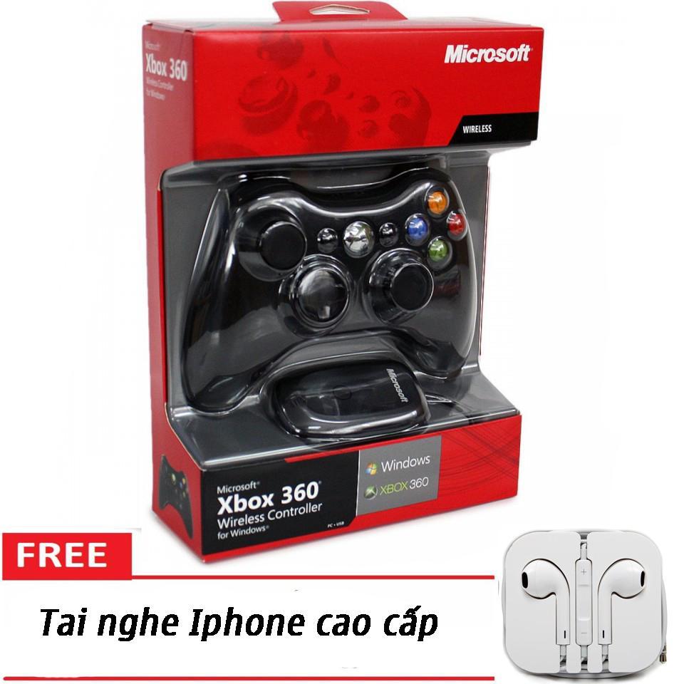 Hình ảnh Tay cầm chơi game Xbox 360 chơi FIFA online 04 + Tặng tai nghe Iphone cao cấp