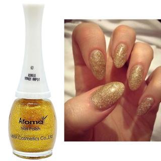 Sơn móng tay siêu sang chảnh Aroma Nails Lacquer Cao cấp Hàn Quốc No.63 (Lấp lánh vàng) 12ml thumbnail