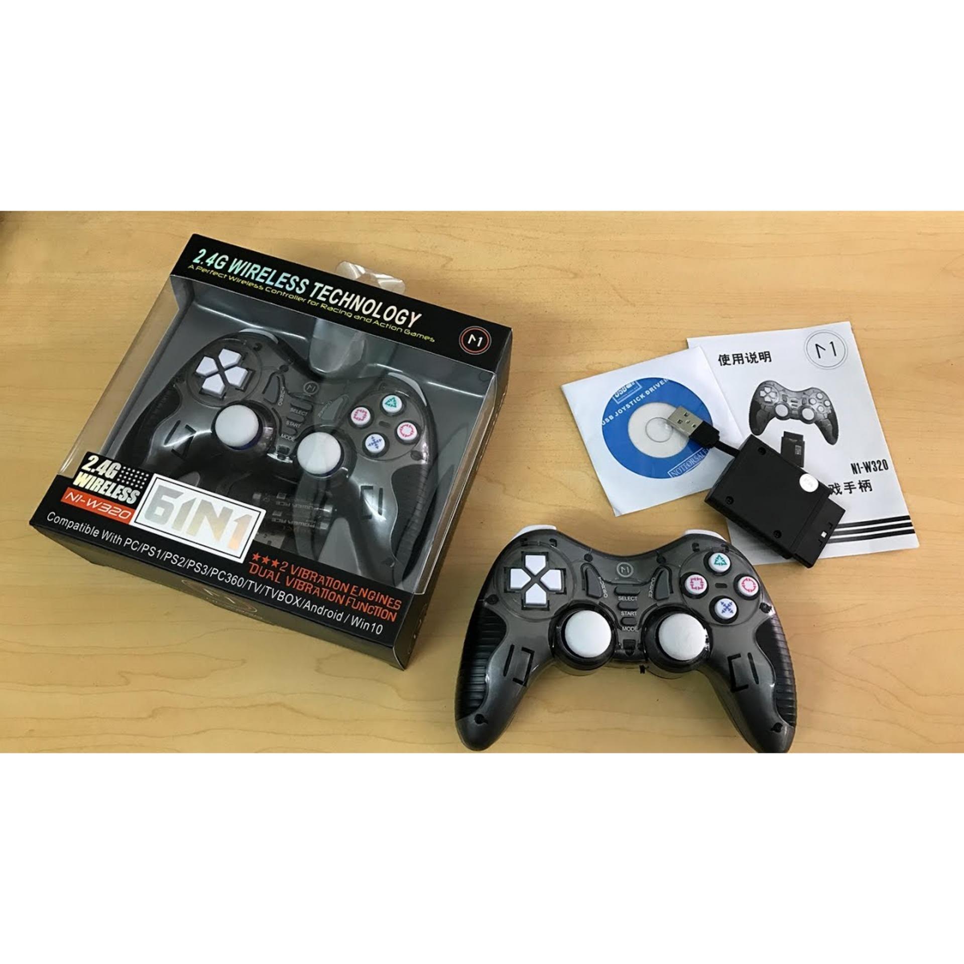 Tay cầm game không dây N1 W320 - 6 trong 1 (Xám) Nhật Bản