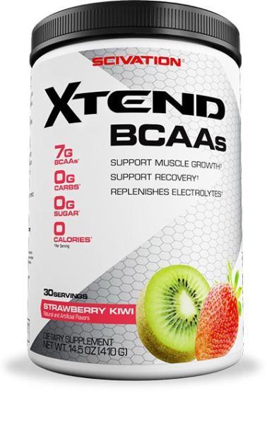 BCAA Xtend của Scivation hỗ trợ tăng cơ tăng cường sức mạnh liên tục trong 30 lần dùng.