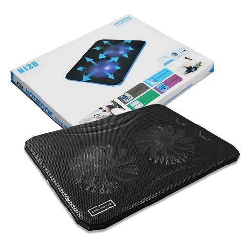 Hình ảnh de tan nhiet laptop N130 cho laptop 15in -17 in hổ trợ 2 quạt hút nhiệt cho mọi dòng laptop