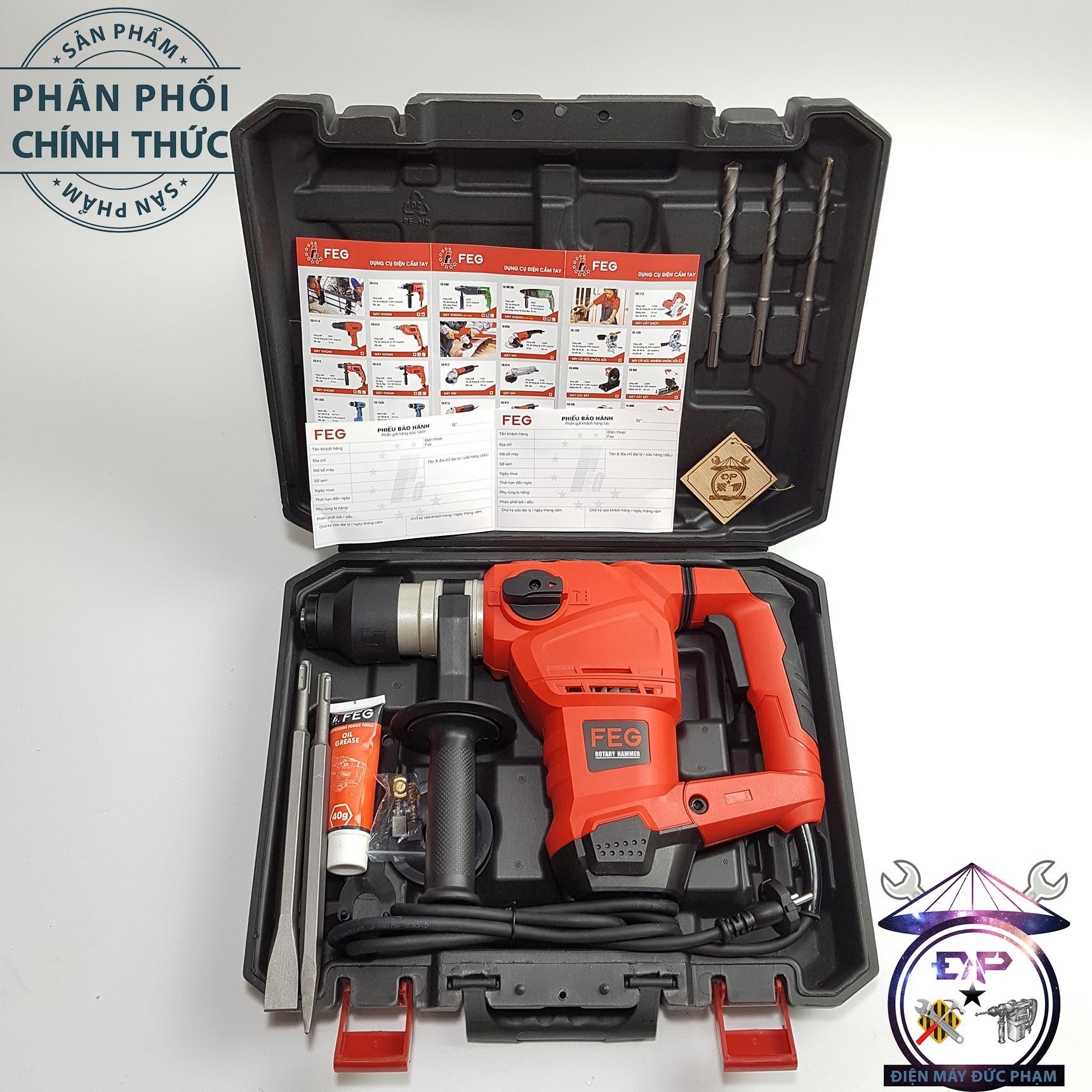 Máy khoan đục bê tông FEG-560-1500W 32mm ( công ty bảo hành 6 tháng )