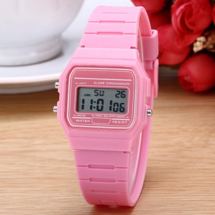 Đồng hồ điện tử unisex WR dây Cao su 1 màu PKHRWR003 Nhật Bản
