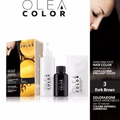 Kem nhuộm dưỡng tóc không Amoniac Olea Color ITALY #3 Dark Brown