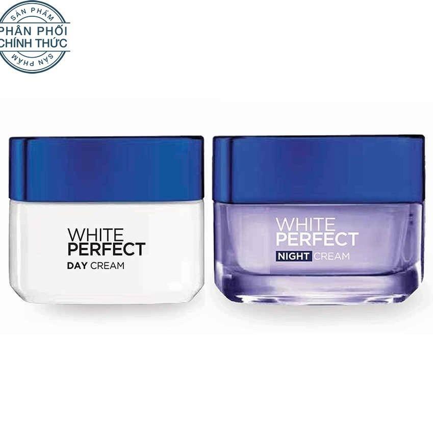 Hình ảnh Bộ kem dưỡng da trắng mượt đều màu ngày và đêm L'Oréal Paris White Perfect 50ml