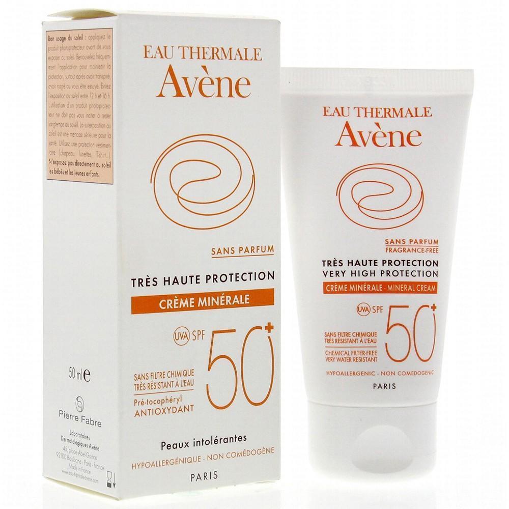 Kem chống nắng Avene Creme Minerale Solaire Spf 50+ tốt nhất