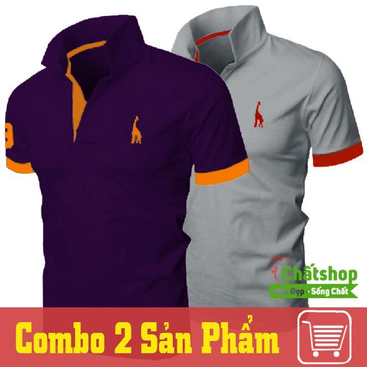 Mã Khuyến Mại Combo 2 Ao Thun Polo Hươu Tim Xam Hồ Chí Minh