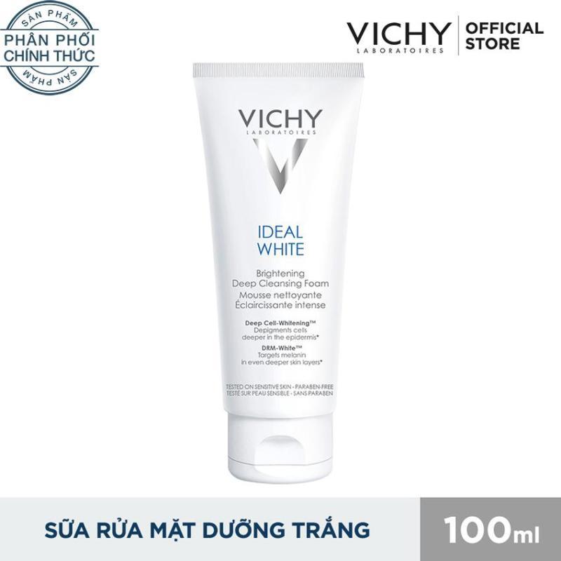 Sữa rửa mặt tạo bọt dưỡng trắng da Vichy Ideal White Brightening Deep Cleansing Foam 100ml nhập khẩu