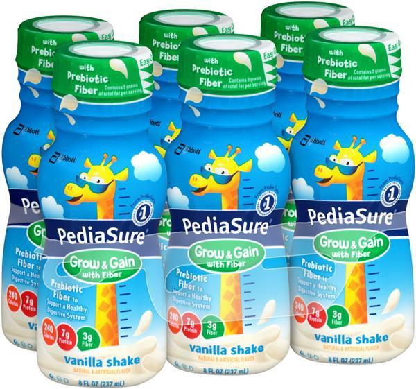 COMBO 6 CHAI SỮA PEDIASURE GROW & GAIN WITH FIBER HƯƠNG VANILLA 237ML
