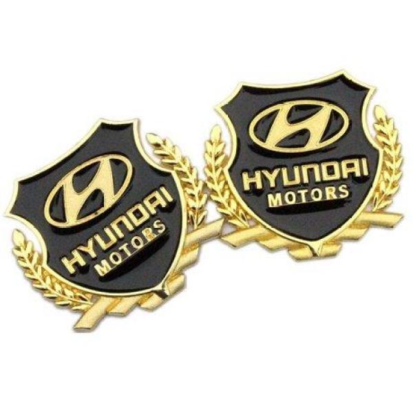 Huy hiệu logo bông lúa cho ô tô Huyndai