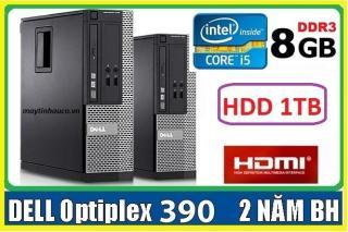 Máy tính để bàn đồng bộ Dell optiplex 390 ( Core i5 8G 1000G ),Có HDMI , Tặng USB wifi , Dây HDMI bàn di chuột - Hàng Nhập Khẩu thumbnail