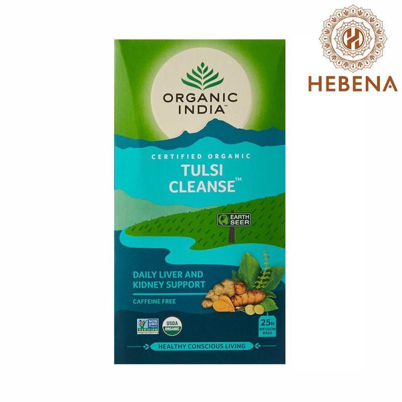 Trà tulsi giải độc gan thận Organic India Tulsi Cleanse - hebenastore