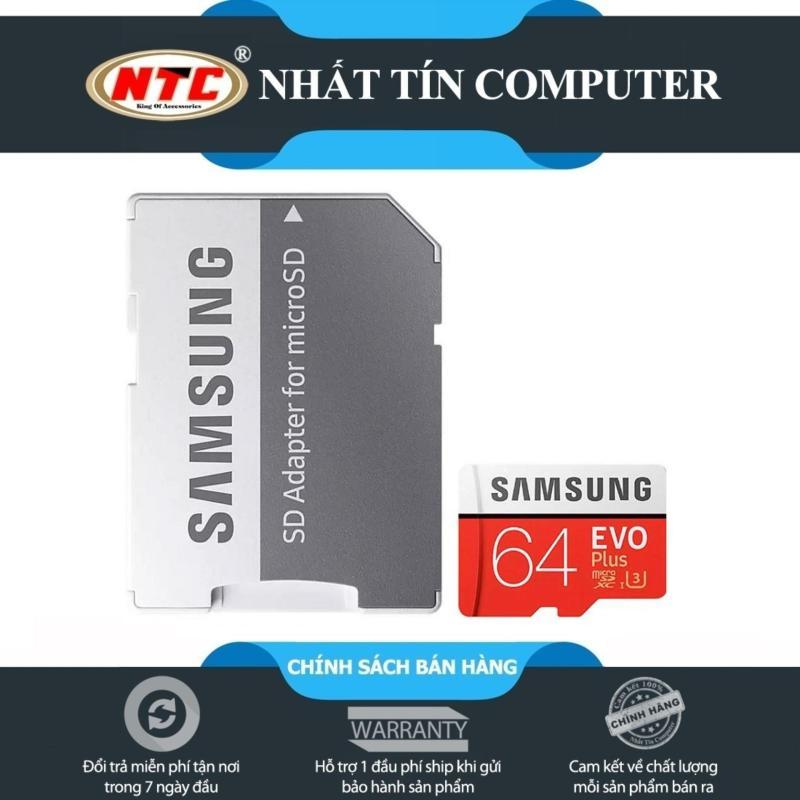 Thẻ nhớ MicroSDXC Samsung Evo Plus 64GB 100MB/s U3 4K - kèm Adapter (Đỏ)