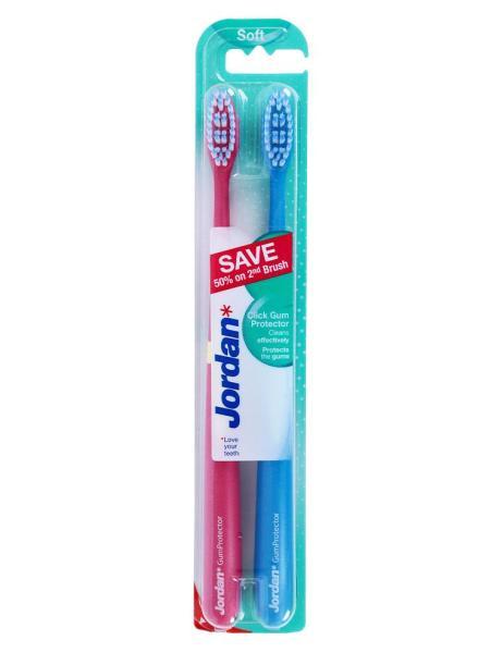 Bàn Chải Đánh Răng Jordan Click Gum Protector (Vỉ 2 Cái) giá rẻ