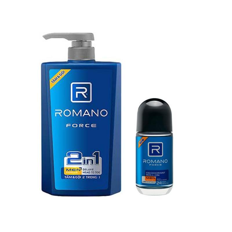 Dầu Tắm Gội 2in1 Romano Froce 650ml +Tặng Lăn Khử mùi 40ml