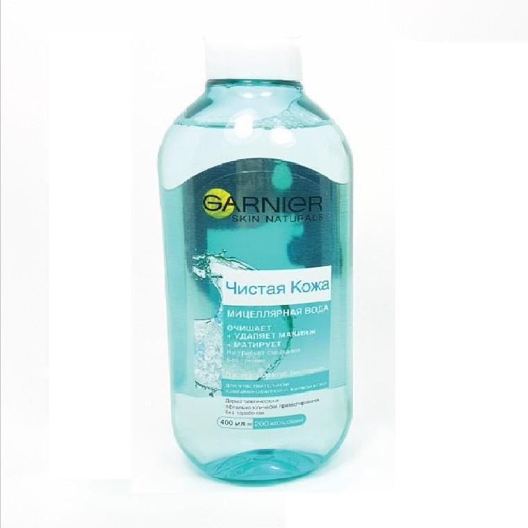 Nước tẩy trang Garnier Micellar Cleansing Water cho da dầu 400ml (Màu xanh)
