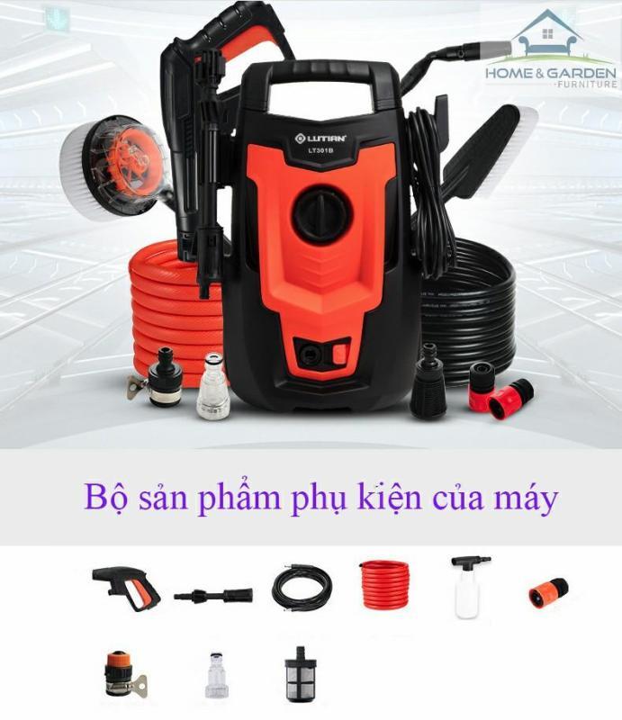 Máy rửa xe cao áp Lutian 301B, vệ sinh và chăm sóc ô tô, xe máy - 1400W
