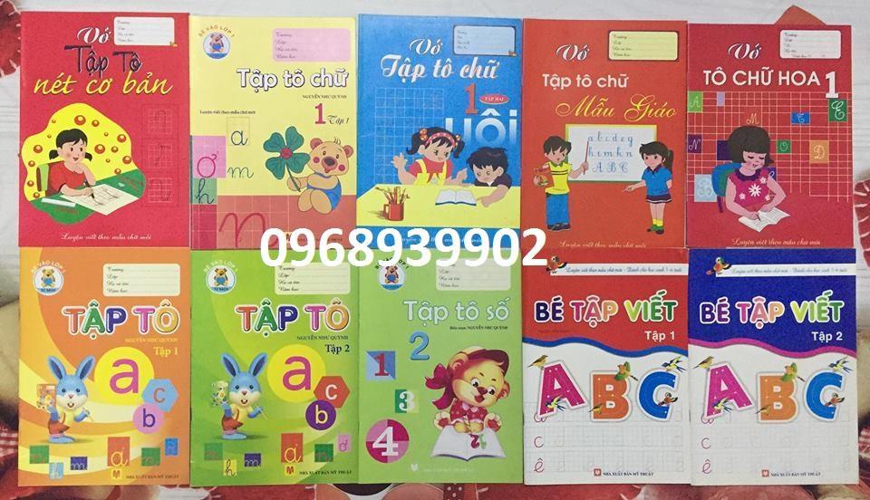 Mua Combo 10 quyển sách tập tô, tập viết cho trẻ mầm non + Tặng kèm 3 bút chì