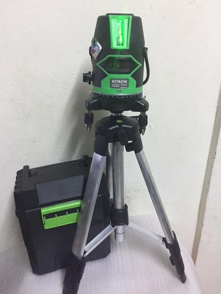 Máy cân mực laser HITACHI 5 tia xanh- Hàng Nhật