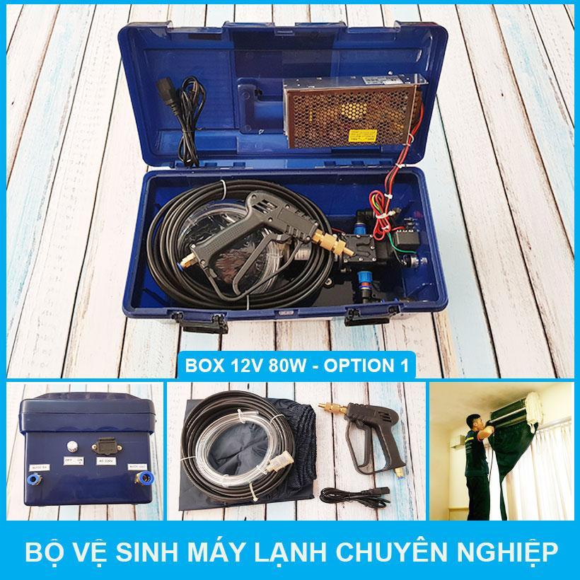 Hình ảnh Box Xịt Rửa Vệ Sinh Máy Lạnh Chuyên Nghiệp 80W 220V Option 1