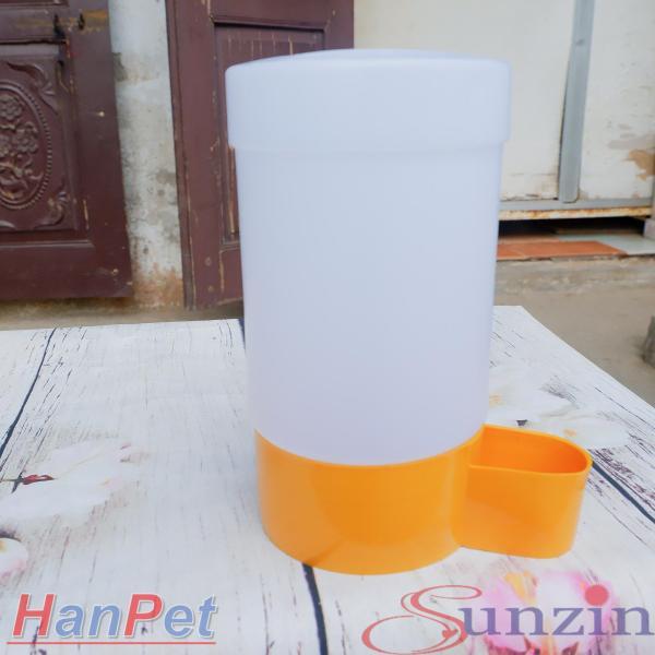 HCM-Bình uống nước gia cầm tự động cấp nước - Dạng trụ đứng đặt nền (18x10cm) - máng uống chim cảnh gà chọi, gà tre, gà-HP10410TC