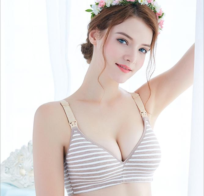 Giá Cực Tốt Để Sắm Áo Lót Bầu Và Sau Sinh Cho Con Bú Kẻ Cotton AB01