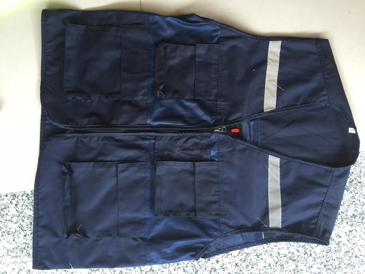 Áo ghile 4 túi hộp phản quang size XL
