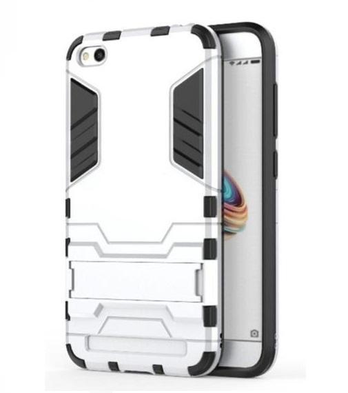 Hình ảnh Ốp lưng chống sốc kiêm giá đỡ điện thoại 2in1 Iron Man dành cho Xiaomi Redmi 5A (Bạc)