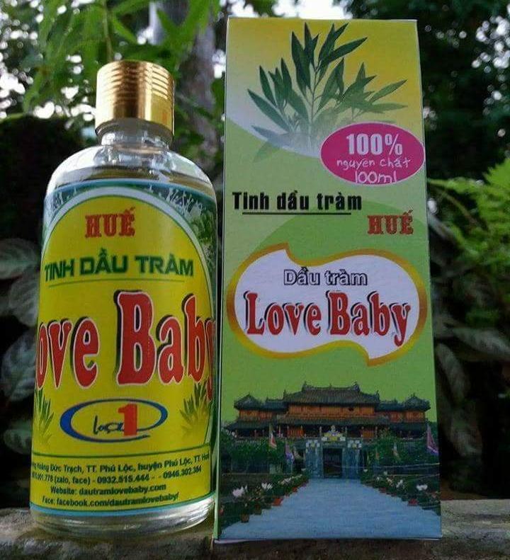 Tinh dầu Tràm Love Baby, Huế, 50 ml